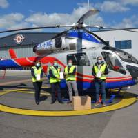 Landkreis Trier-Saarburg spendet Schutzmasken an Luxemburgische Luftrettung