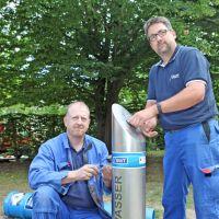 Trinkwasserspender am Domfreihof und im Palastgarten Trier wieder in Betrieb