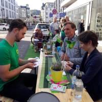"""Am Aktionstag """"Park(ing) Day"""" am Freitag füllen sich tote Parkplätze mit städtischem Leben"""