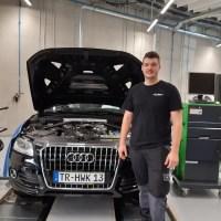 Einer der Erstplatzierten: Jan Schmitz, Kraftfahrzeugmechatroniker, Autohaus Eifel-Mosel GmbH in Bitburg, Foto: Handwerkskammer Trier
