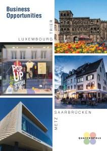 """Die neue Broschüre """"Business Opportunities"""" der vier Wirtschaftsstandorte der QuattroPole. Foto: QuattroPole"""