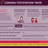 Corona-Tests im Messepark nur bei Symptomen und für Kontaktpersonen