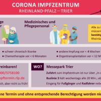 Alle Informationen zum Impfzentrum auf einen Blick. Bildquelle: Stadt Trier