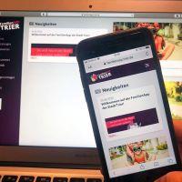 Die webbasierte FamilienApp Trier ist für die Anwendung auf Desktops und Smartphones optimiert. Bildquelle: Presseamt Trier