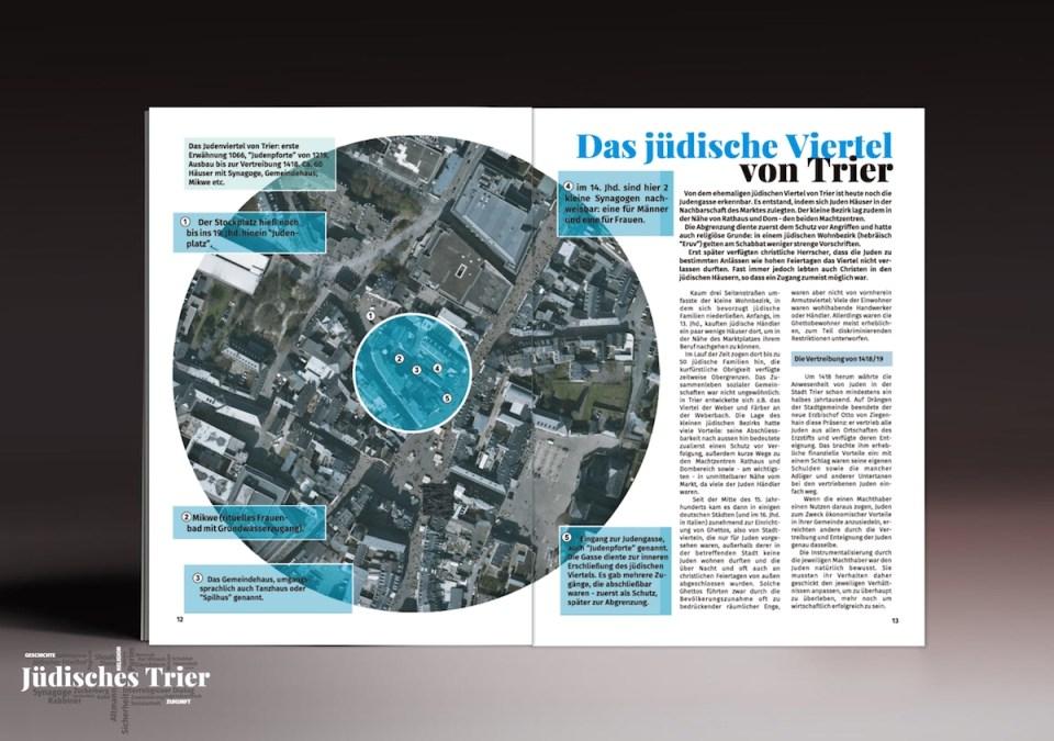 """Seite aus dem Magazin """"Jüdisches Trier"""""""