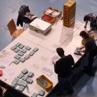 Auszählung von Briefwahlstimmen in der Arena Trier. Bildquelle: Presseamt Trier