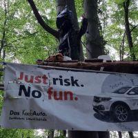 Das Protestcamp im Wald bei Igel und Zewen. Bildquelle: besch bleibt