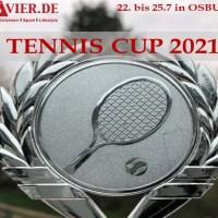 5vier.de TennisCup 2021 in Osburg. Das Foto zeigt den Pokal des Cups. Foto: 5vier.de