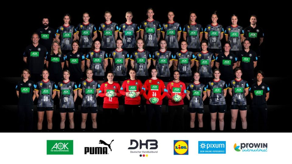 Das Mannschaftsfoto der Frauen-Handballmannschaft. Bildquelle: Deutscher Handballbund