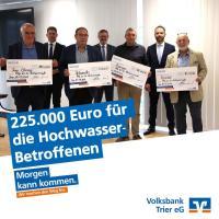 Spendenaktion der Volksbank Trier für die Hochwasserbetroffenen