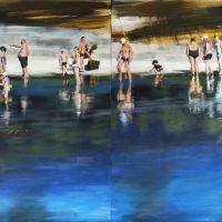 """Das Gemälde von Martina Diederich trägt den Namen """"Nachmittag am Fluss"""". Bildquelle: Martina Diederich"""