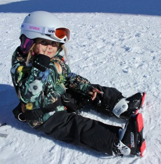 That about sums up Elli´s evaluation of her ski experience