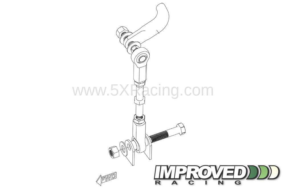 Improved Racing Adjustable Rear Sway Bar Links for 1990