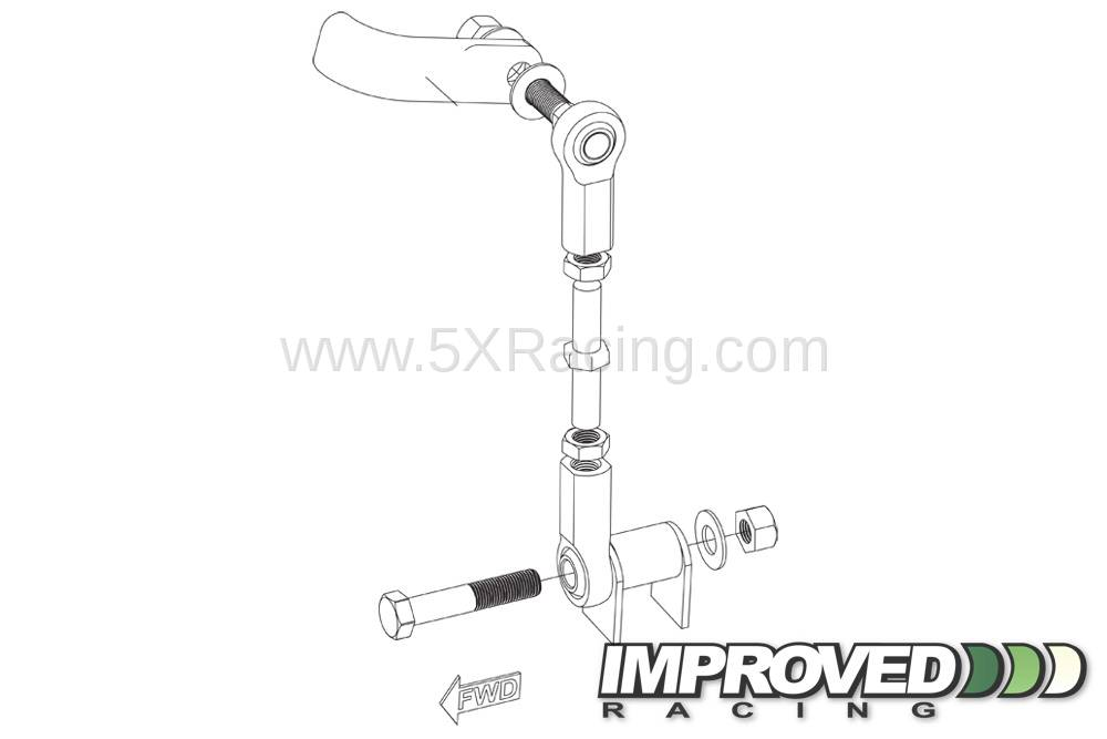 Improved Racing Adjustable Front Sway Bar Links for 1990