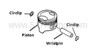 Mazda OEM Piston Sets for 1.6L B6 Engine