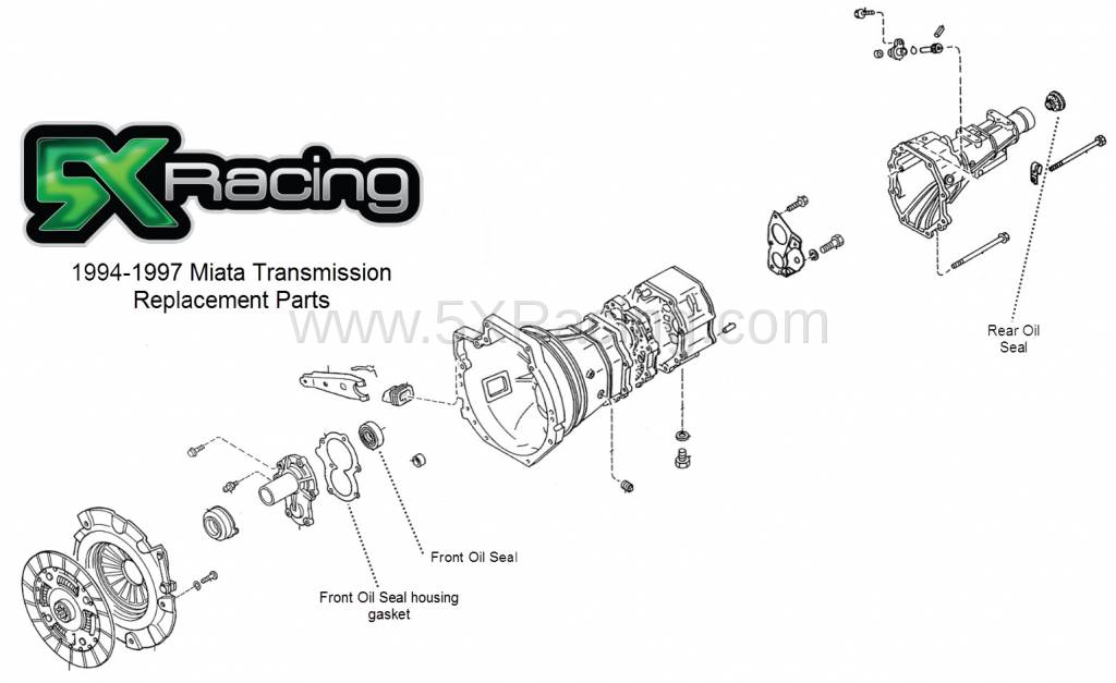Mazda OEM 94-97 Miata Transmission Replacement Parts