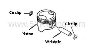 Mazda OEM Piston Sets for 99-00 1.8L BPZ Engine