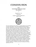 TWU International Constitution