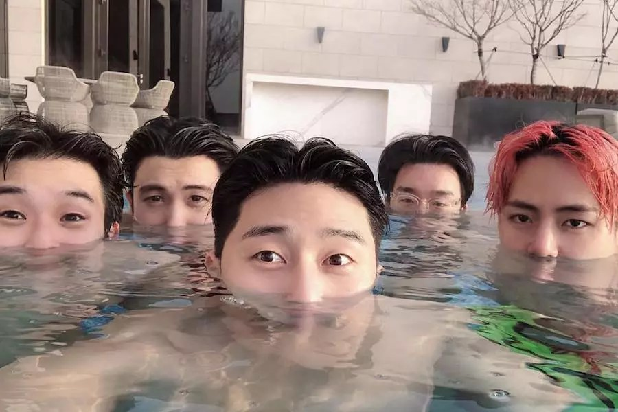 Park Seo Joon And BTS's V Celebrate Birthdays Together With Fun Pool Party