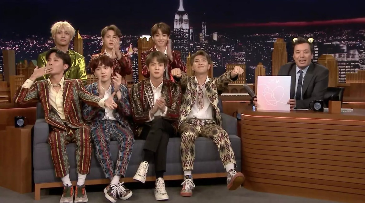 "Watch: BTS Takes On Dance Challenge, Shares Life Updates, And Performs On ""The Tonight Show Starring Jimmy Fallon"""