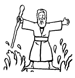 Moses Black And White Clipart