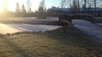 Frozen river in Pori