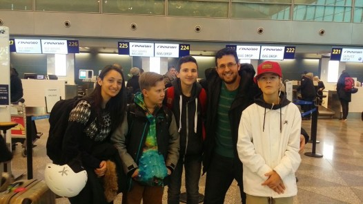 Our group at the airport