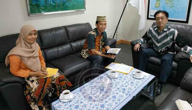 Di Makassar, Kesbangpol Bertemu Konsoler Jepang