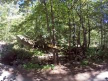 """Le panneau """"Raccourcis"""" pour passer le ruisseau"""