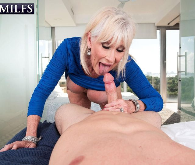 Over 60 Milf Leah Lamour Seduces A Younger Guy With Her Big Tits  C2 B7