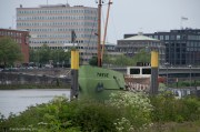 """""""Treue/Faithfulness"""" Now we know what that looks like - a rusty old boat on a big river, in this case the Weser"""