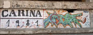 Classic grafitti in Mostar.