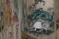Streetart in Mostar: stencil