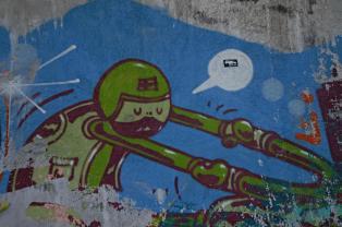 Streetart in Sarajevo.
