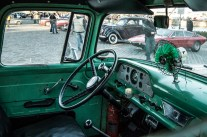 Interior of a Ford Pickup built in 1957.
