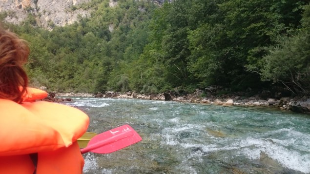 This is about as exciting as it gets rafting on the tara in August.