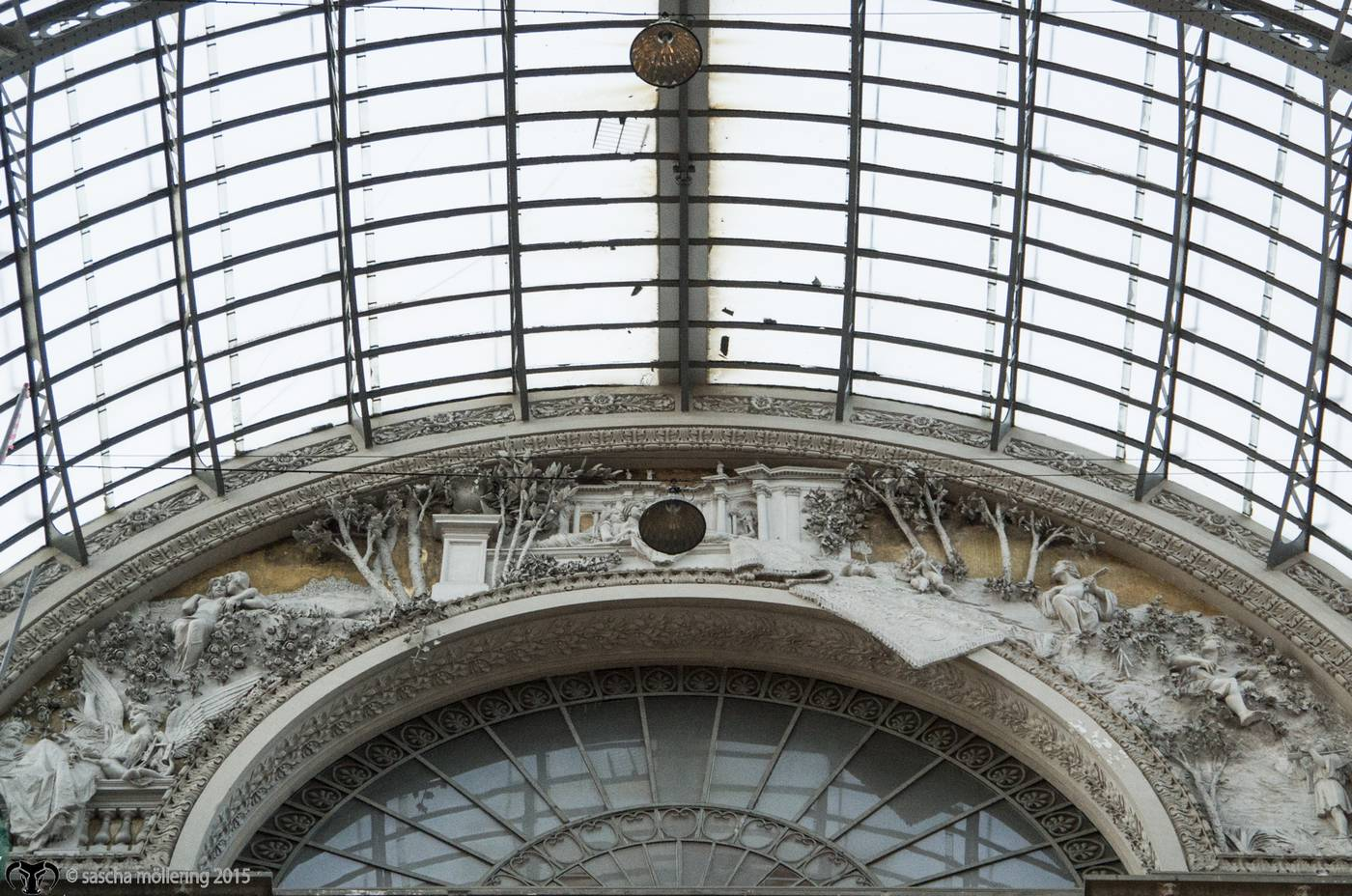 "Amende in the Interior of the historic ""shopping-mall"" Galleria Umberto I in Naples"