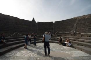 The small theatre in Pompeii