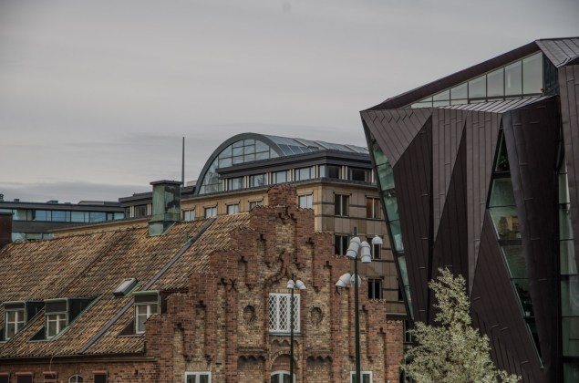 Sweden is very good at integrating modern architecture in old enviroments.
