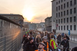 Music Ride at the Berlin Wall