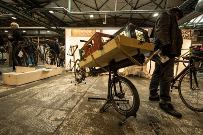 bamboo cargo bike at OZON Bicycles