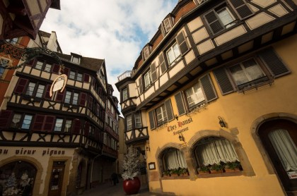 """""""Chez Hansi"""" There are many signs that Alsace was German for quite some time."""