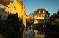 Colmar is a town with many small waterways and beautiful houses that line their banks.