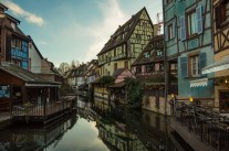 Lots of restaurants in old-town Colmar have enlarged themselves by building smalll annexes in the canals.
