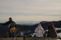 Visitors enjoying the spectacular view over Schwarzwald - on clear days you can even spot Mont Blanc in over 200 km distance