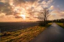 Same spot, different perspective, sunset in Brandenburg