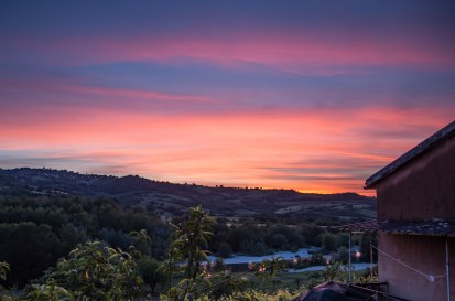 Sundowner in the foothills of Monti Alburni, Campania, Italy