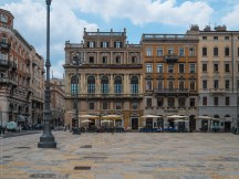 Cafés and palazzi at the Canal Grande Trieste