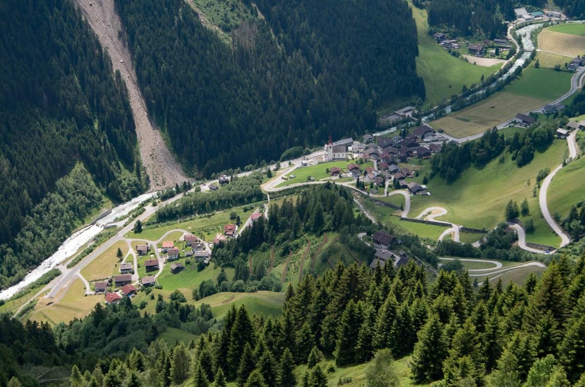The village of Lerch in the Defreggen valley, Osttirol, Austria