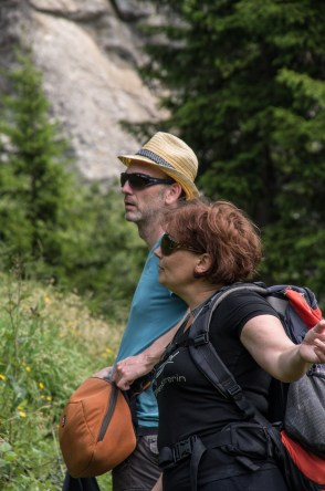 Sascha and our guide Inge on the Apollotrail in the Defreggental